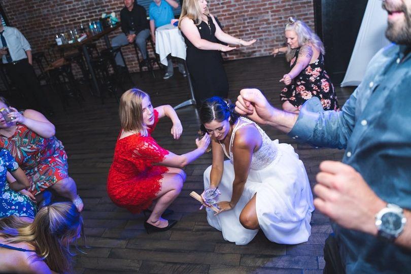 Bride gets down