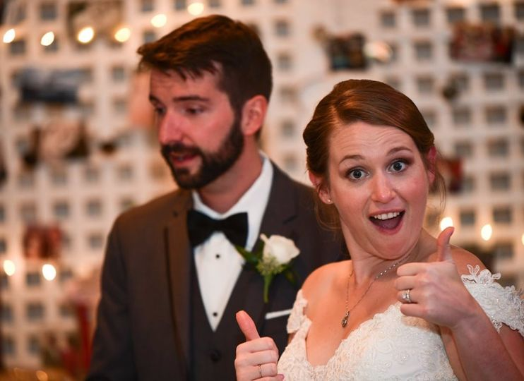 Thumbs Up from the Bride