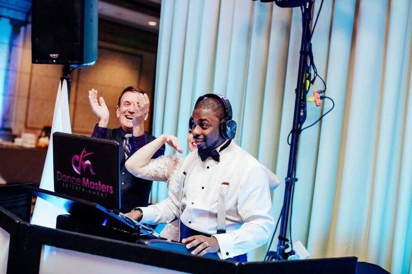 Groom DJing