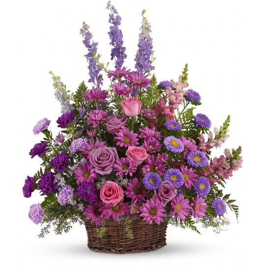 Luscious lavender basket
