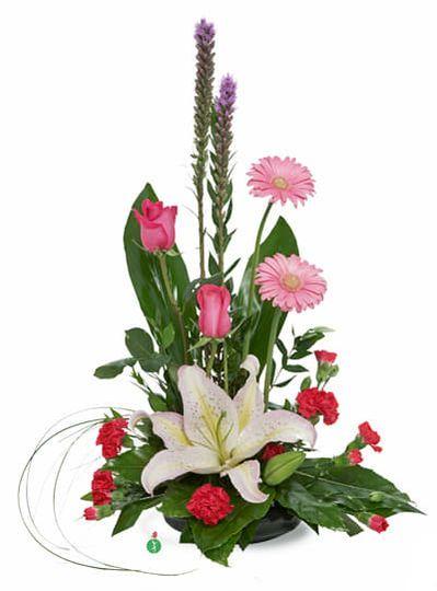 Artistic lavender arrangement