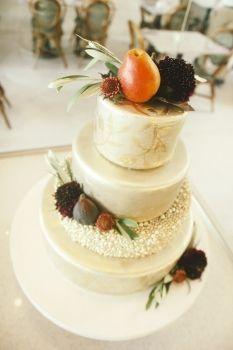Fall Fruit Wedding Cake