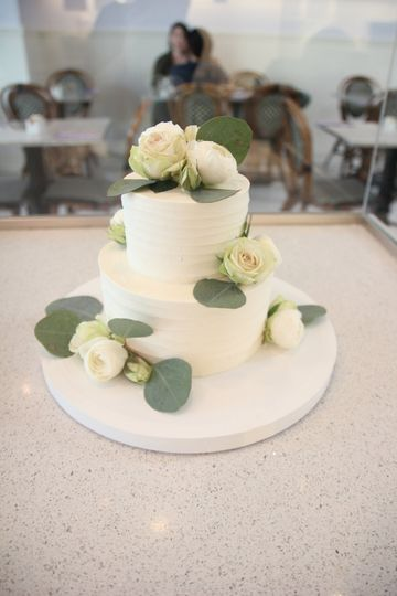 Small classic tiered cake