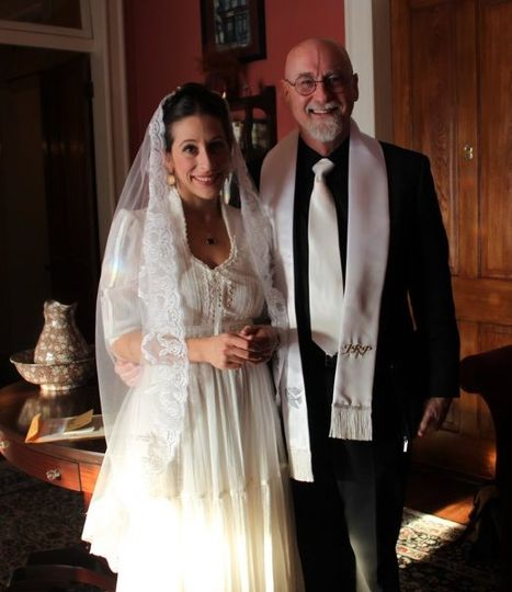 Bride and the officiant