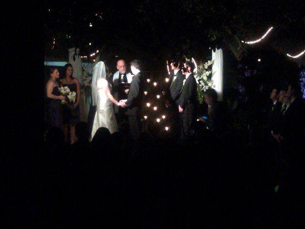 Crowd watching the wedding