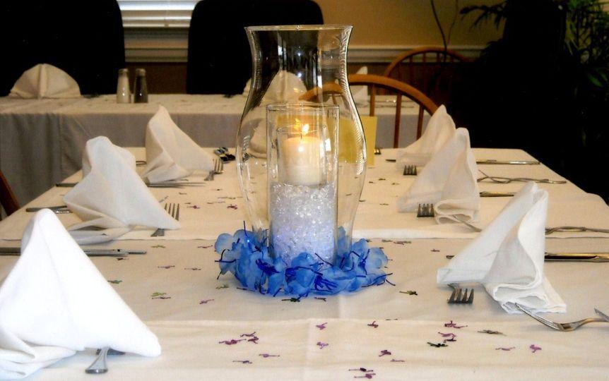 Hawaiian themed wedding reception