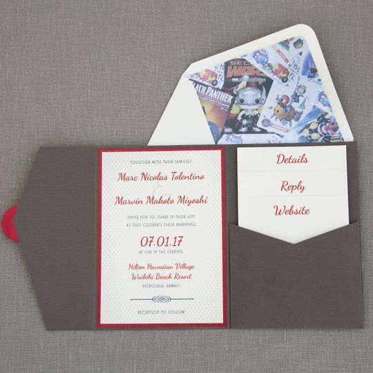 Subtle Superhero Invitation
