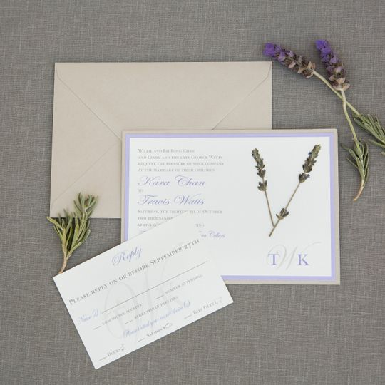Dried Lavender Invitation