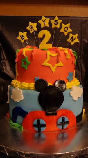 Mickey Mouse Clubhouse Themed Cake