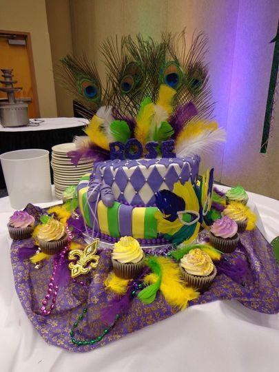 Bat Mitzvah Cake And CupCakes