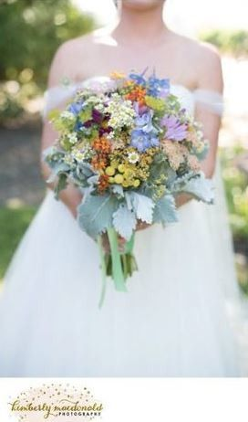 Sonoma wildflower bouquet, hand gathered and tied with ribbon.