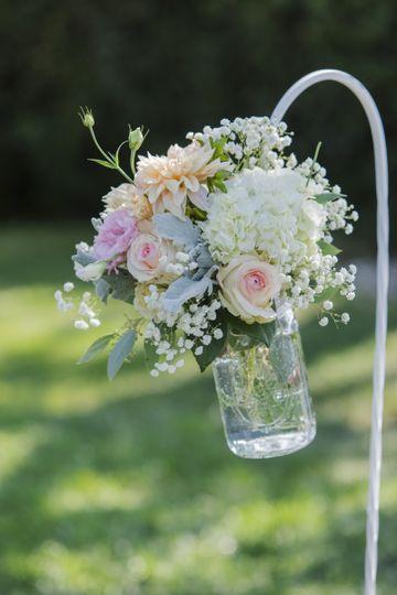 Shepherd's Hook Aisle flowers