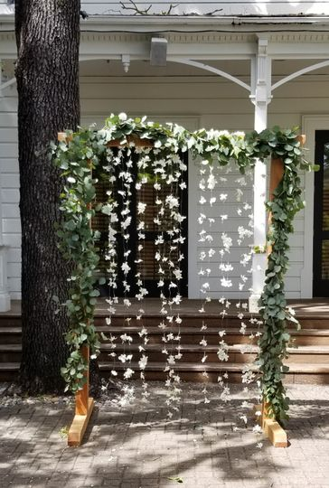 Floating flowers wedding arch