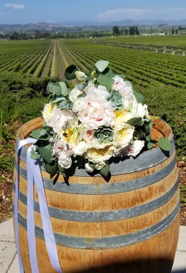 Bridal bouquet atGloria Ferrer