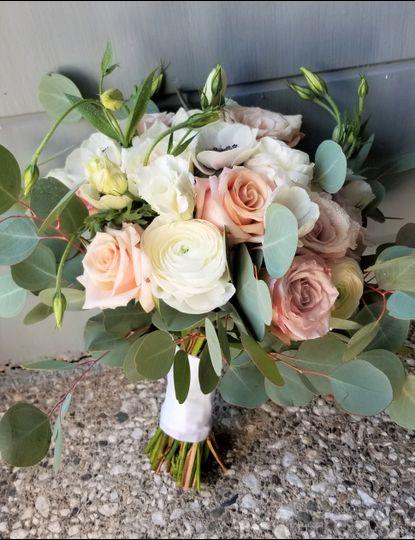 Bouquet mauve and blush