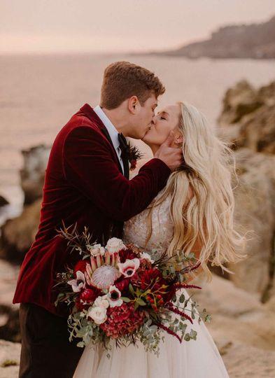 Coastal fall wedding