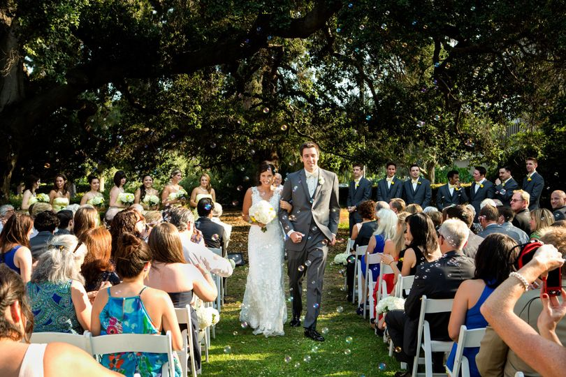 Ceremony under the historic oak tree
