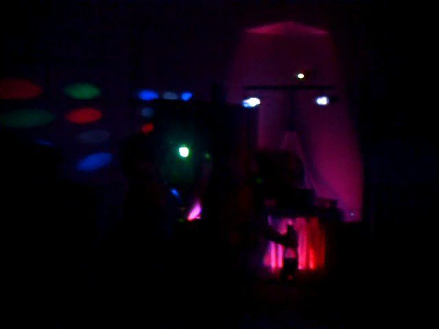 I nice shot lifted from an old video of a dancing bridesmaid in front of my uplit booth at a wedding...