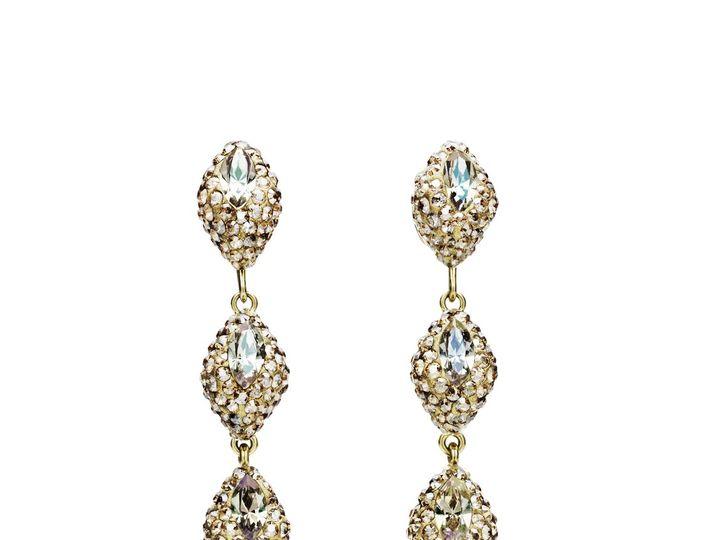Tmx 5412906 As Core Collection Moselle Mini Detachable Drop Earrings Golden Shadow 1 51 999357 Fort Wayne wedding dress