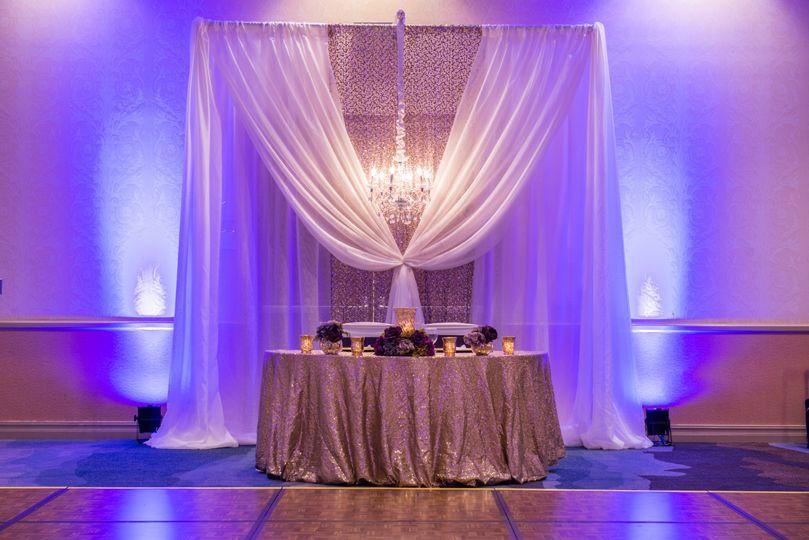 Head table and lighting