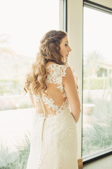 Bridal dress closeup