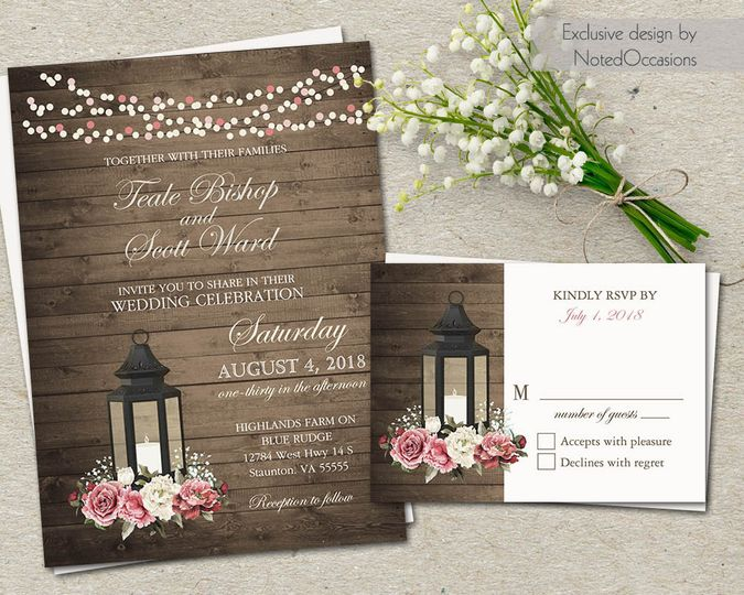 Noted Occasions Wedding Invitation Designs - Invitations - Friday ...