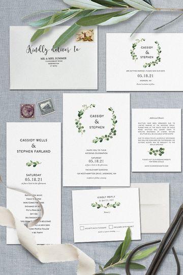 A greenery wedding