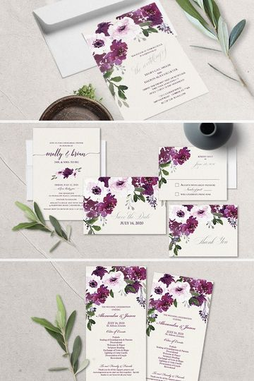 Eggplant wedding theme