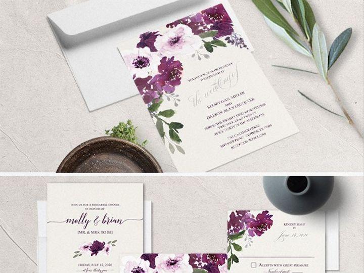 Tmx Eggplant Wedding Invitations 51 181457 1561470835 Friday Harbor, WA wedding invitation