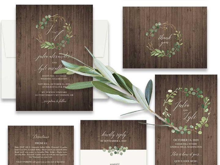 Tmx Greenery Wedding Invitation Set Barn Wood 51 181457 1561470930 Friday Harbor, WA wedding invitation