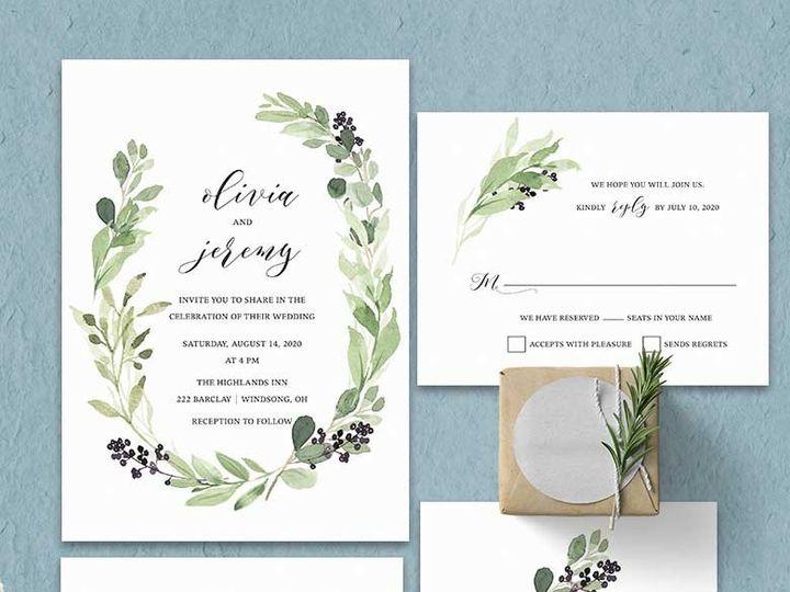 Tmx Greenery Wreath Wedding Invitations 51 181457 1561471002 Friday Harbor, WA wedding invitation