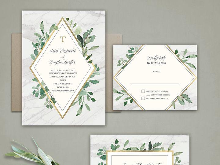 Tmx Marble Wedding Invitations Greenery 51 181457 1561471032 Friday Harbor, WA wedding invitation