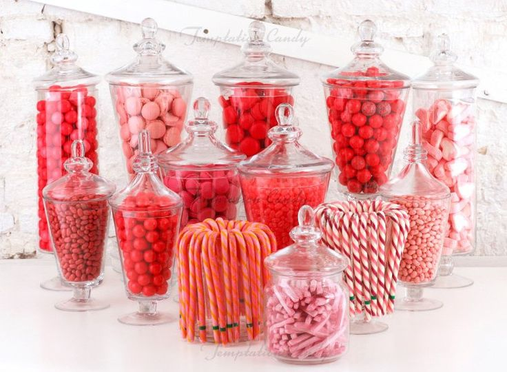 Pink and Red Candy Buffet/Sweet Table
