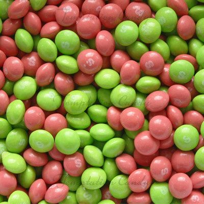 pink and green skittle