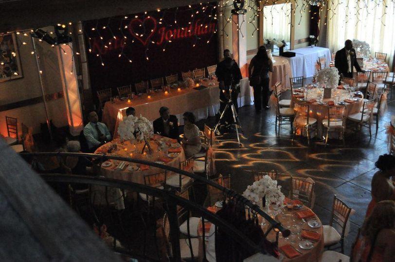 Reception and uplighting