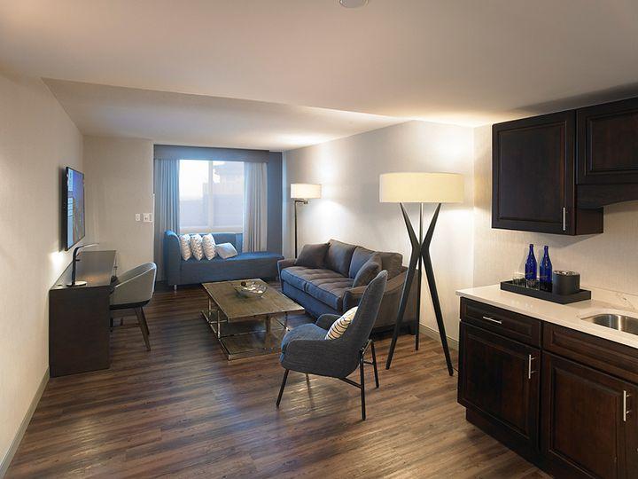 Tmx Skyline Suite Living Kitchenette 51 142457 Rochester, New York wedding venue