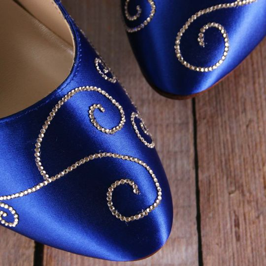 800x800 1455143660279 Royal Blue Wedding Shoes With Silver Crystal Filig