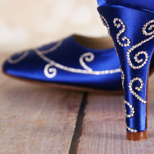 Ellie wren custom wedding shoes dress attire denver co 800x800 1455143672760 royal blue wedding shoes with silver crystal filig junglespirit Image collections