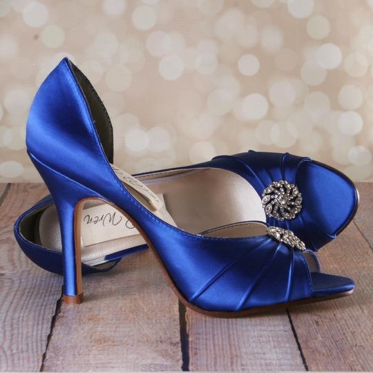Ellie wren custom wedding shoes dress attire denver co 800x800 1455143701335 royal blue dorsay peeptoe wedding shoes with pinwh junglespirit Image collections
