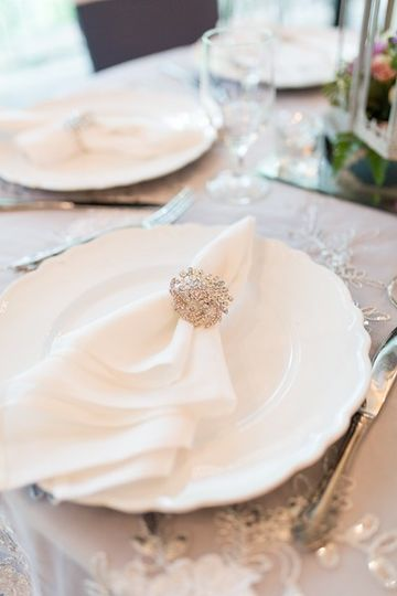 Elegant place settings with napkin