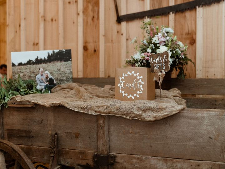 Tmx Cards And Gifts At Wedding Reception On Wagon With Sign And Picture Copy 51 1962457 159037391665068 Greensboro, NC wedding planner