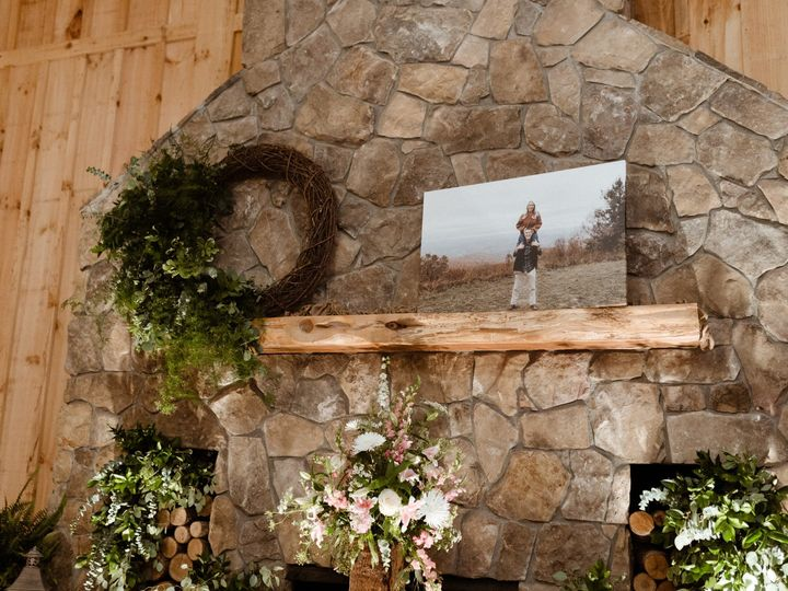 Tmx Hearth Decorated With Wreath Greenery Plants And Large Bride And Groom Photo Copy 51 1962457 159037360555936 Greensboro, NC wedding planner