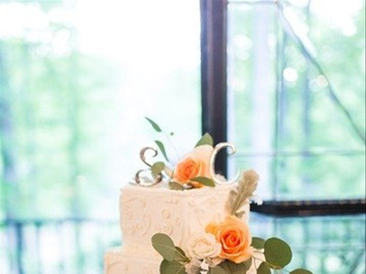 Tmx Wedding Cake With Initial Letter Topper Flowers Silver Cake Stand 51 1962457 159037446980638 Greensboro, NC wedding planner