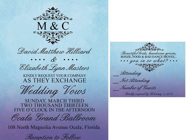 Tmx 1358434521034 538042481027391944208179326776n Ocala, FL wedding invitation