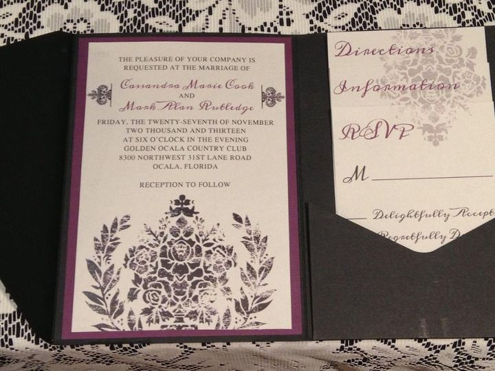 Tmx 1358434523954 7051474836281383508001906679843o Ocala, FL wedding invitation