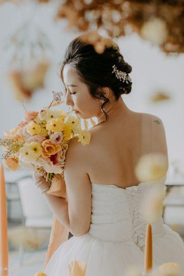 Warm-tone bouquet