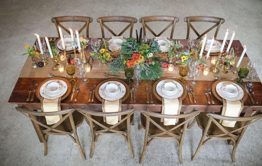 Handmade farm table crossbacks