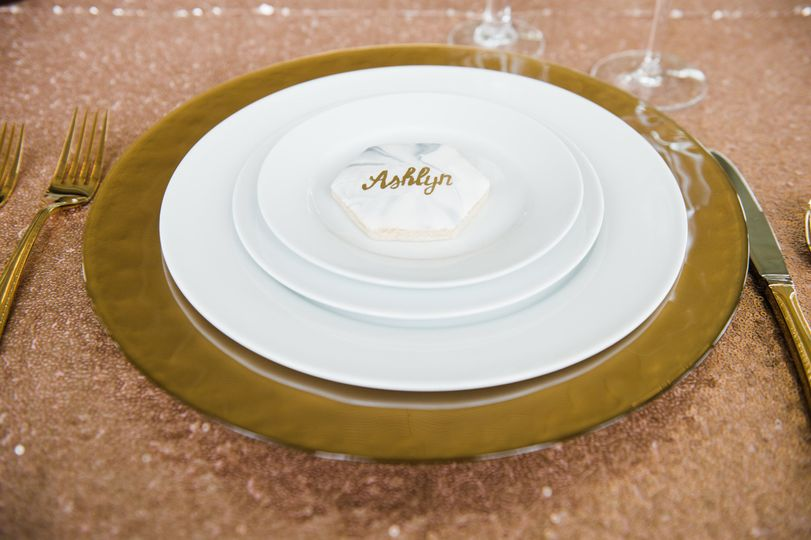 Up Close Gold Place Setting