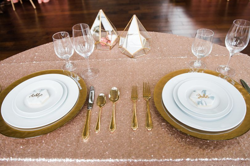 Elegant Gold Tabletop Setup