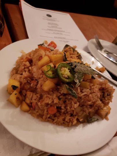 Pineapple chili fried rice